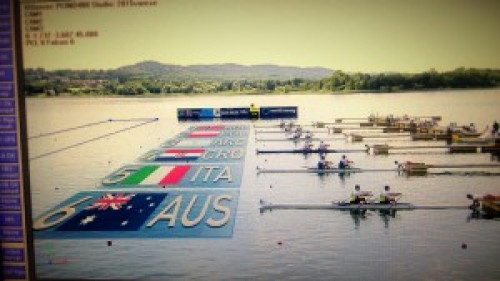 "virtuelle Grafik – ""rowing world cup 2015"" Varese, Italy"